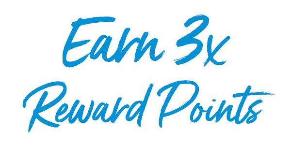 Earn 3 times reward points.