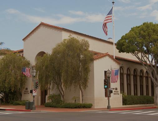 Exterior of Montecito Bank & Trust State Street branch.