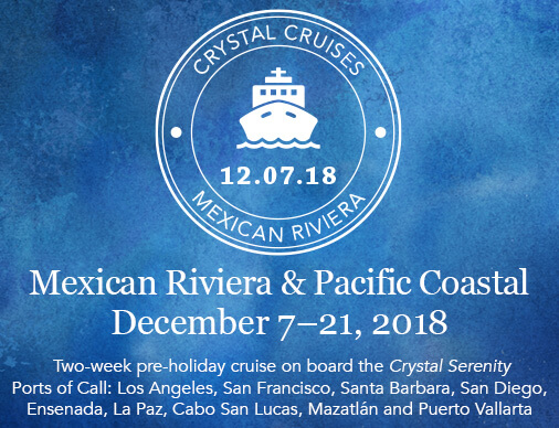 Take a cruise along the Mexican Riviera traveling round trip from Los Angeles. There are no flights involved and the trip is long enough to relax at sea and enjoy fun ports adventures. When we port in Santa Barbara, invite your friends aboard for lunch!