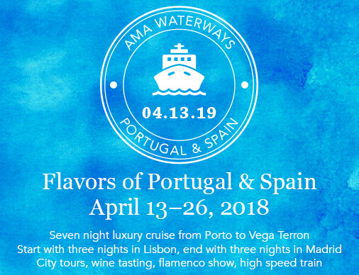 Embark on a fascinating 7-night Douro luxury cruise from Porto to Vega Terrón.  Start with 3-nights in Lisbon, end with 3-nights in Madrid City. Enjoy spacious riverine suites, fine dining and live entertainment aboard one of the highest rated river cruise ships!