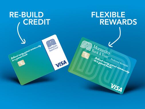 MB&T Credit Card: Re-build credit & Flexible rewards.