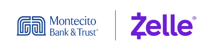 Montecito Bank & Trust and Zelle logos